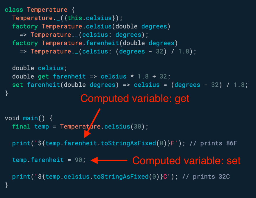 Need to work with *computed* variables? Use getters and setters