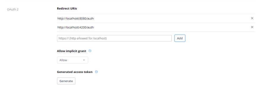 oauth settings