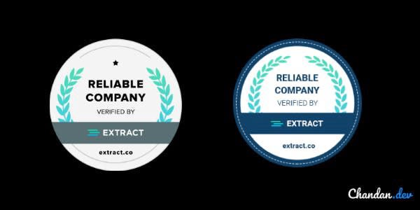 extract trust badges