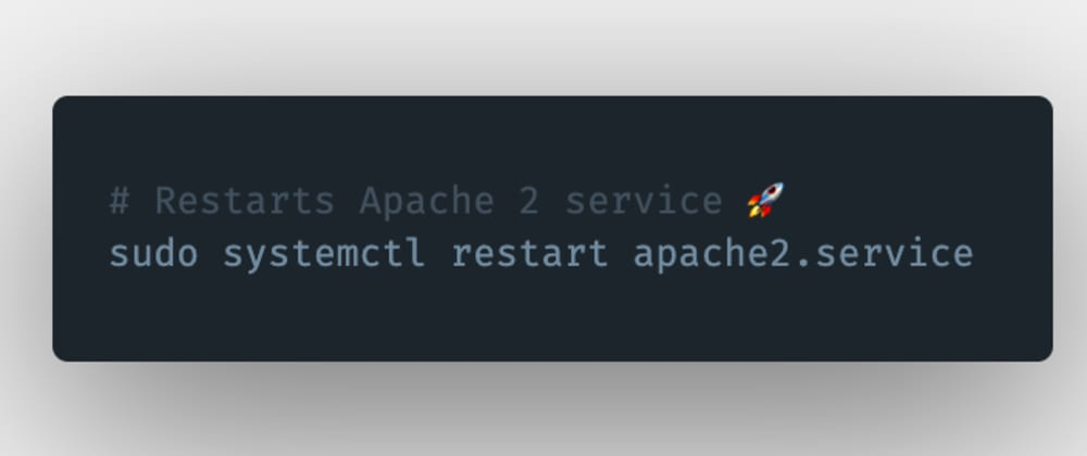 Cover image for How to restart an Apache 2 server or service in Linux?