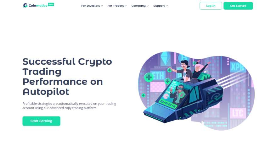 Coinmatics is a crypto copy trading and analytical platform that starts its history in 2018.