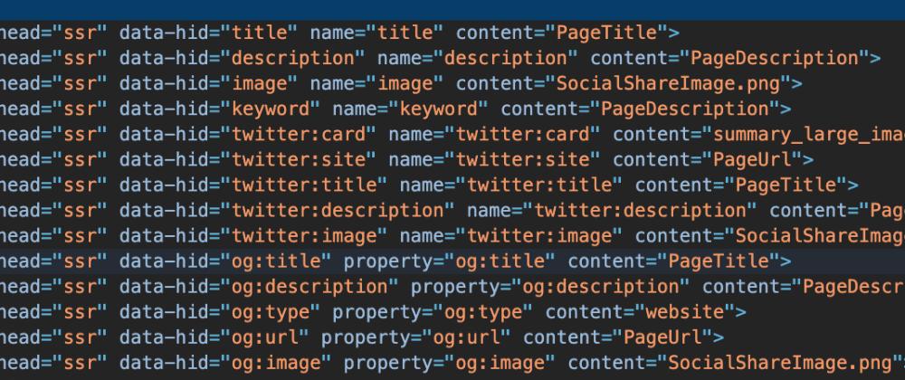 Cover image for Nuxtjs Generate SEO metadata simple