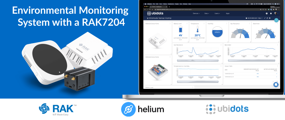 Cover image for Connect a RAK7204 to Helium and Forward Its Data to Ubidots