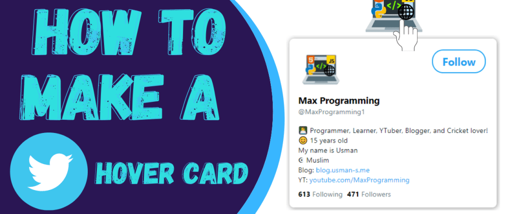 Cover image for 🎨 How to create Twitter Profile Hover Card using HTML and CSS