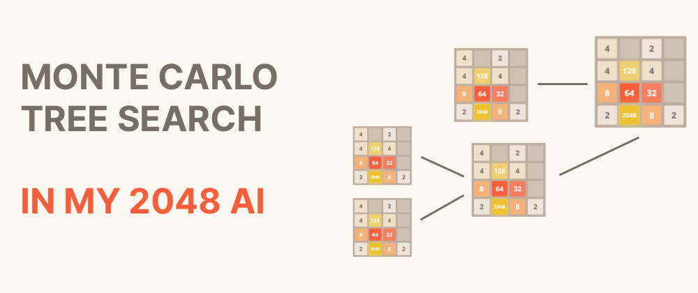 Cover image for Using the Monte Carlo Tree Search Algorithm in an AI to Beat 2048 (and other games)
