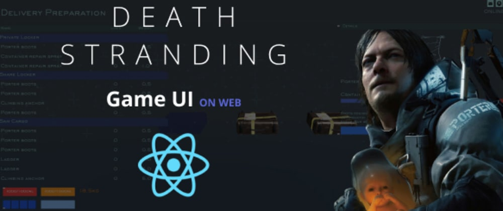Cover image for How to reproduce Death Stranding UI with react and react-three-fiber