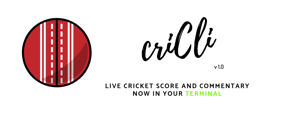 Cover image for CriCLI is here! Any Cricket Fans in the House? 👀🏏