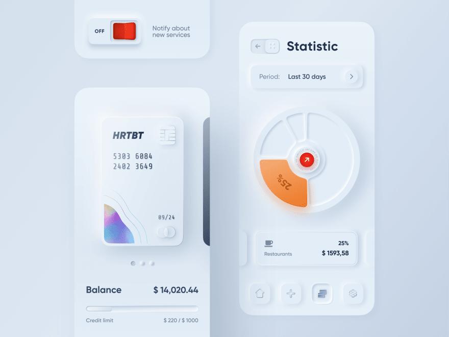 skeuomorphic design by Alexander Plyuto