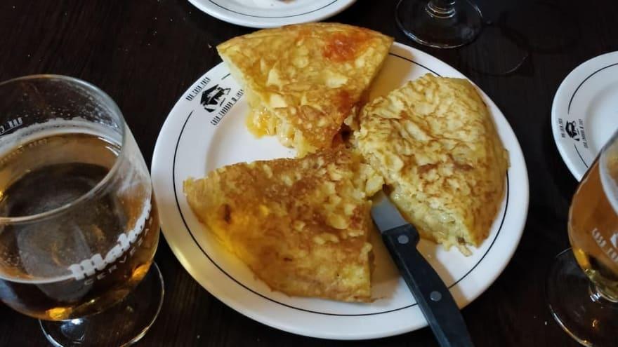 Terraform resource Spanish omelet from Casa Paco, Madrid