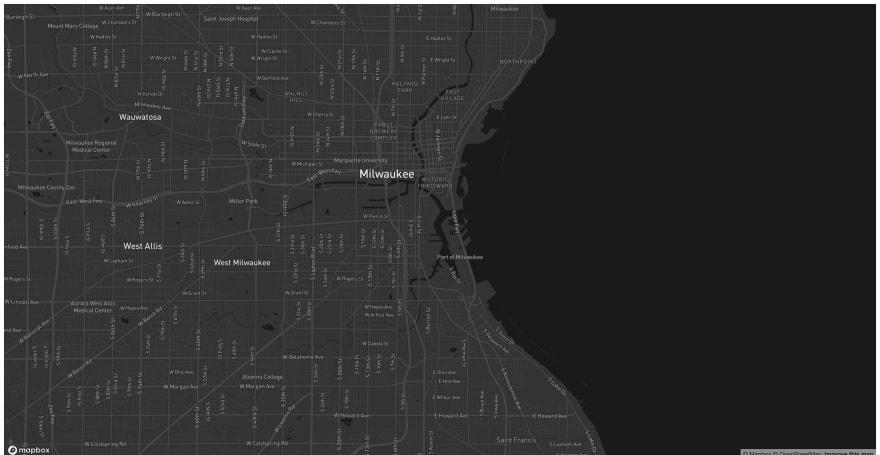 Mapbox Dark Style