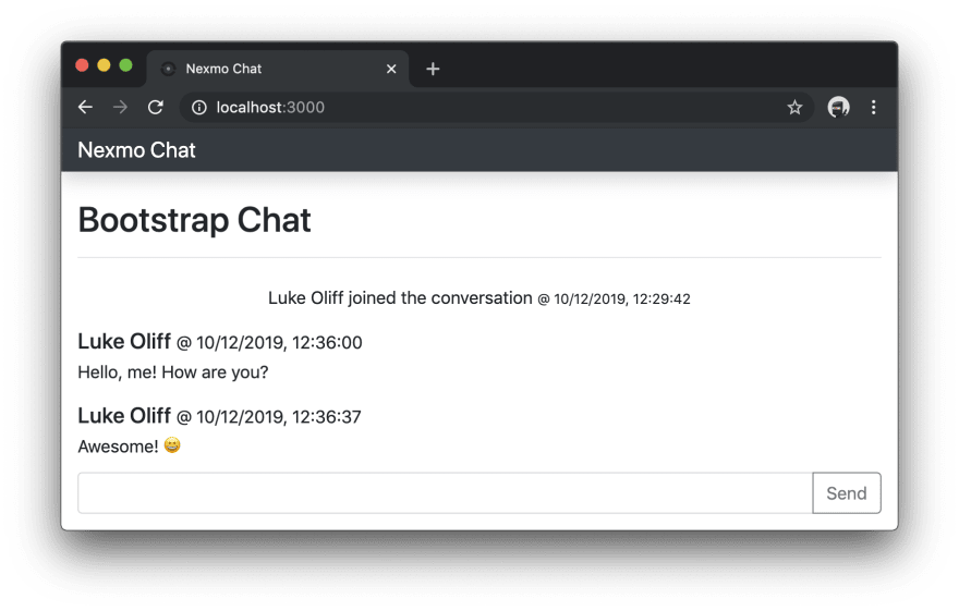 Now using from-me and to-me message style in chat application
