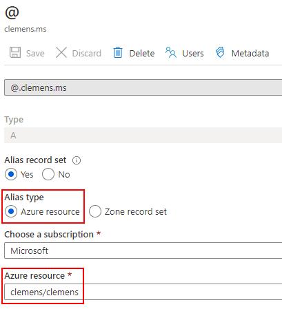 DNS Azure resources