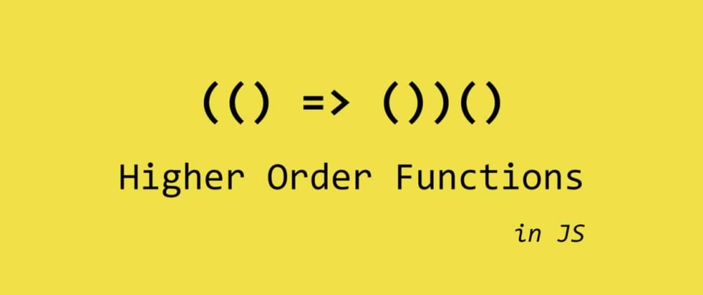 Cover image for Higher Order Functions