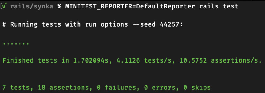 Output of test results without formatting