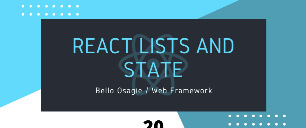 Cover image for React Lists and State