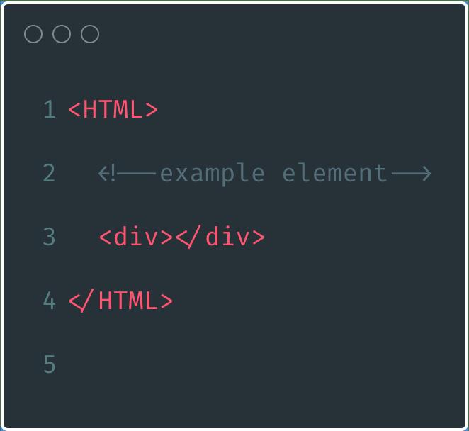 Sample HTML element