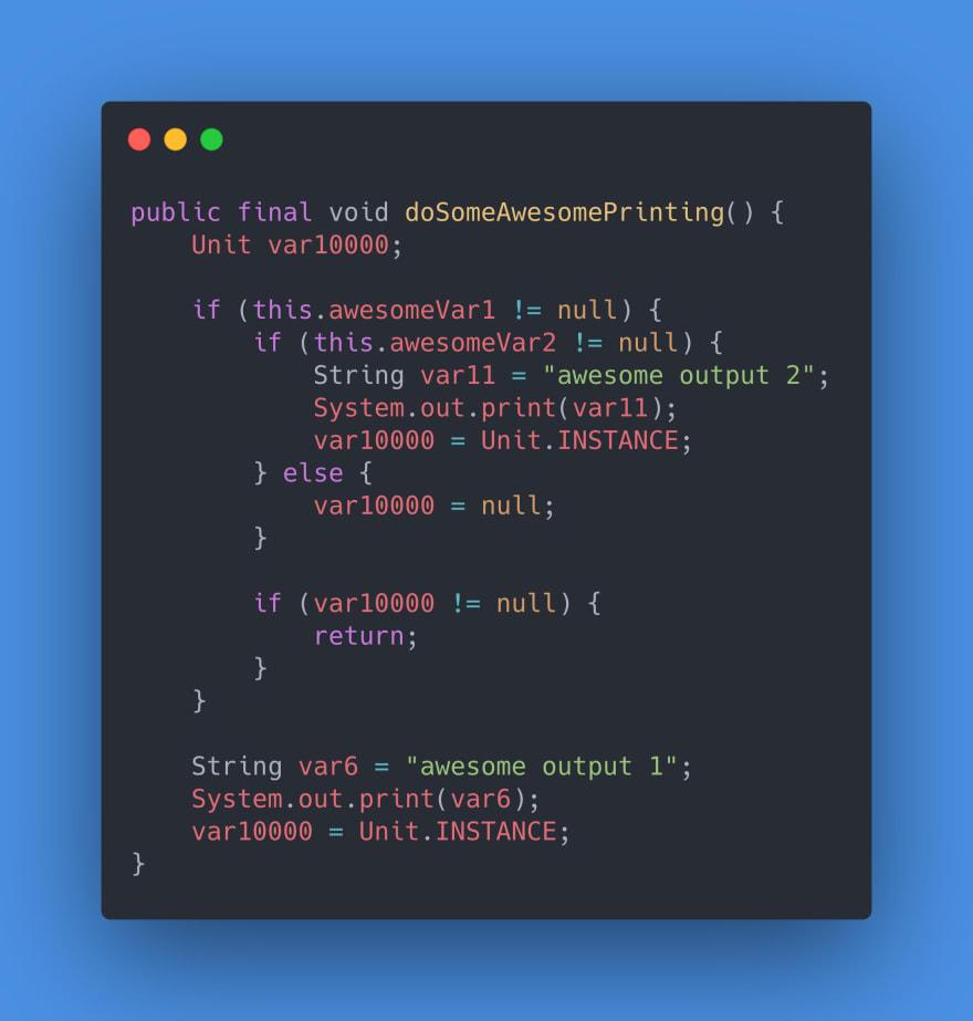 Example 1 - Java