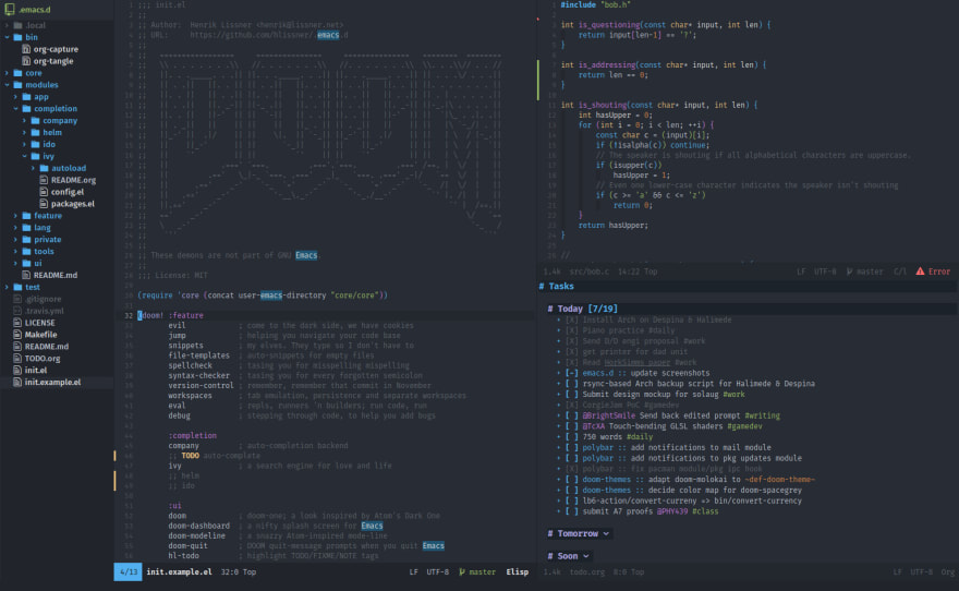 Doom emacs screenshot