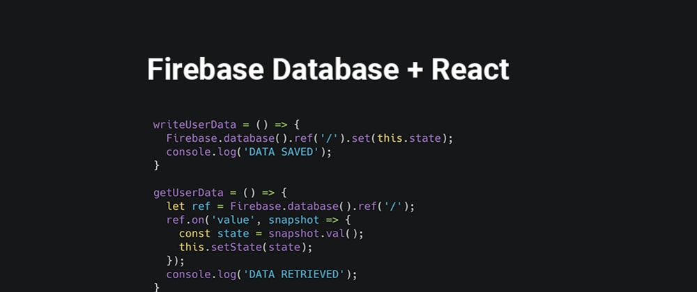 Cover image for Firebase as simple database to React app