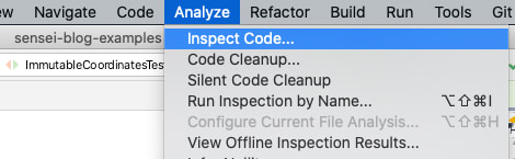 Analyze Inspect Code