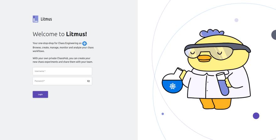 Login Page for Litmus-Portal