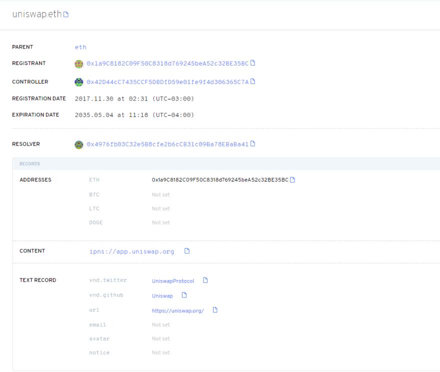 ENS Metadata