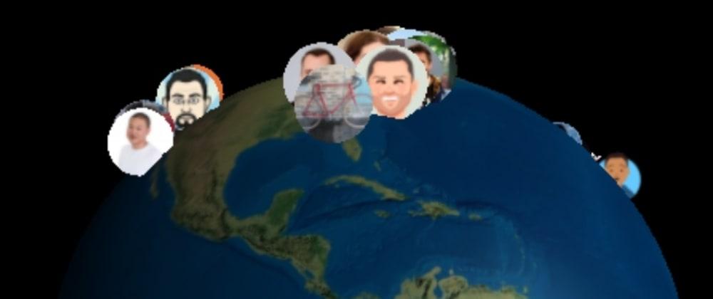Cover image for GitHub Contributors Map