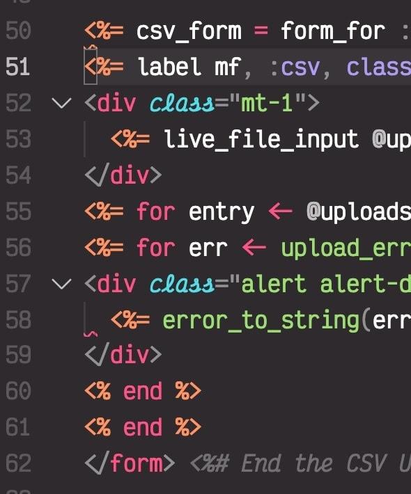 Un-indented code