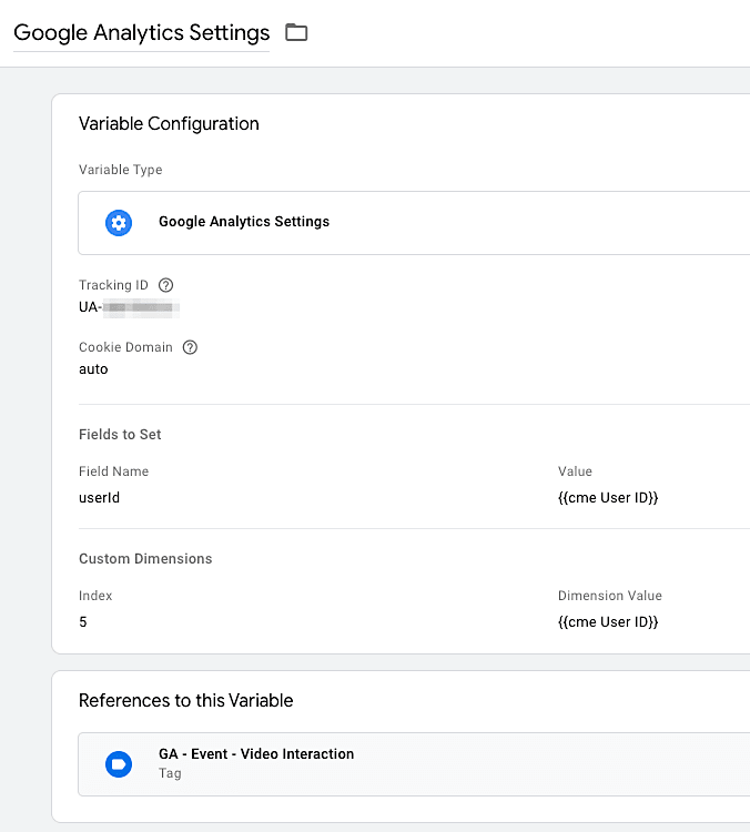 GTM Google Analytics Settings