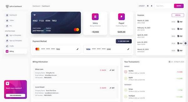 Soft UI Dashboard - Free Version