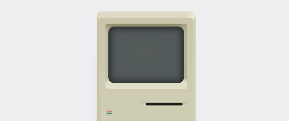 Cover image for Re-creating a Macintosh with gradients and box-shadows
