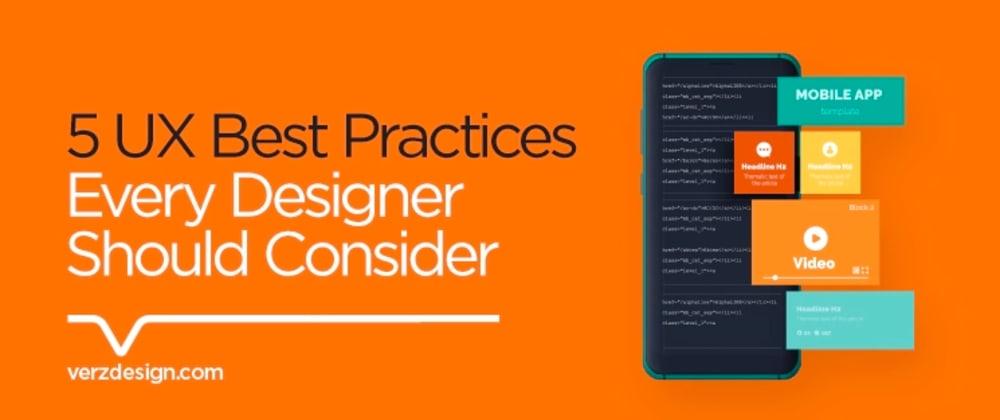 Cover image for Mobile UX Design: 5 UX Best Practices Every Designer Should Consider