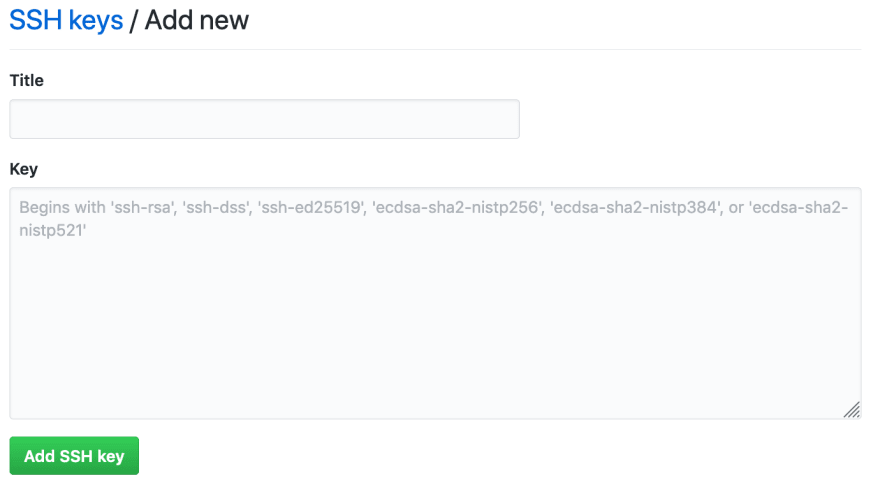 Github : Add SSH Key