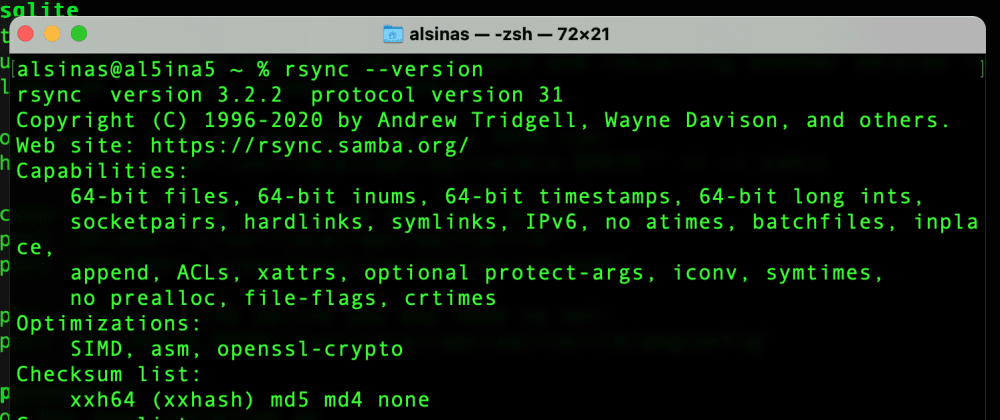 Cover image for Updating `rsync` on macOS, so you're not stuck with 14 year old software