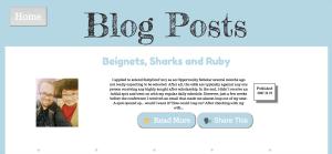 New Portfolio Blog Page