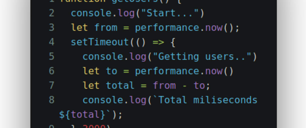 Cover image for How to measure the time javascript function with performance.now()