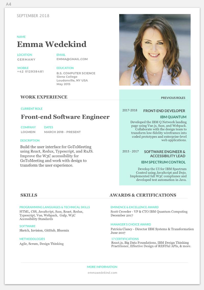 Pretty resume