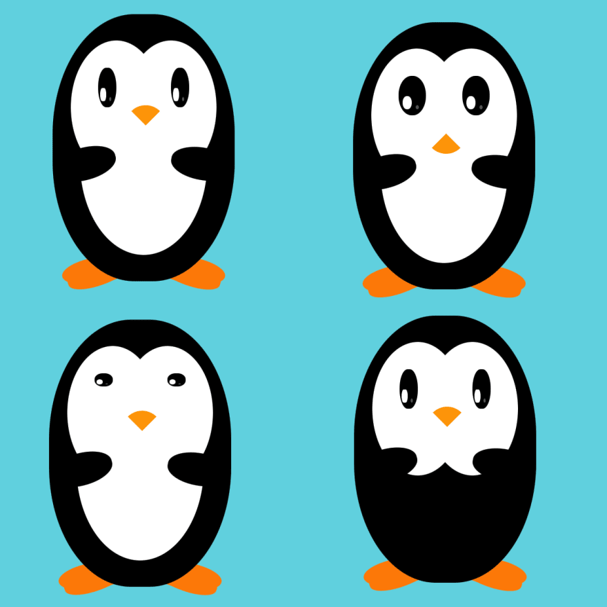"""Penguins with variations"""
