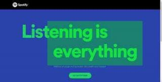 spotify page has text as its LCP