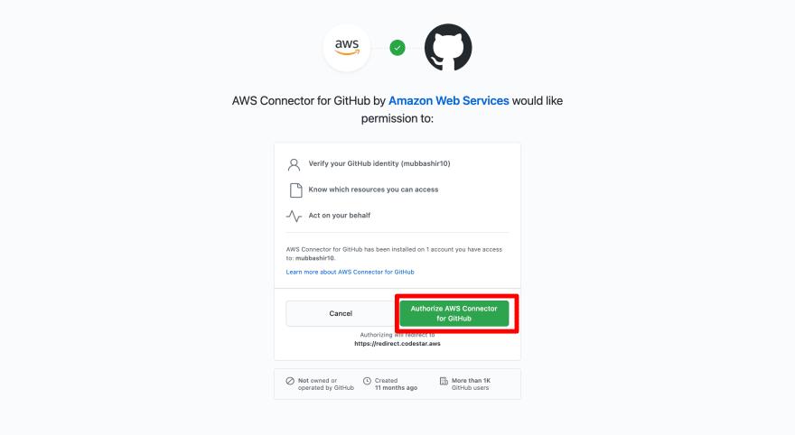 AWS App Runner with Github