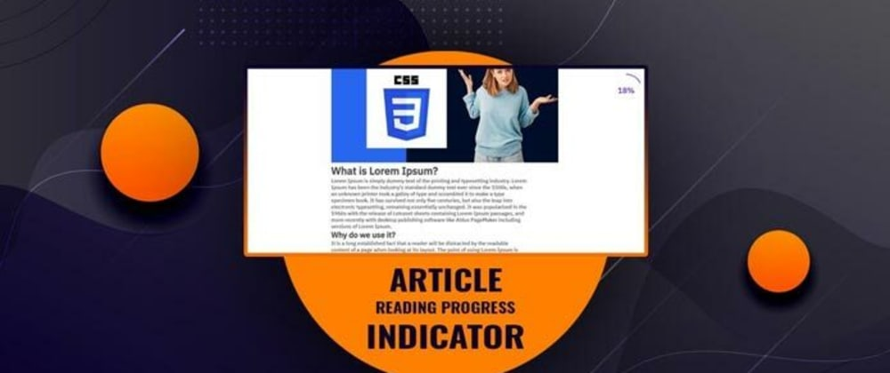 Cover image for Article Reading Progress Indicator