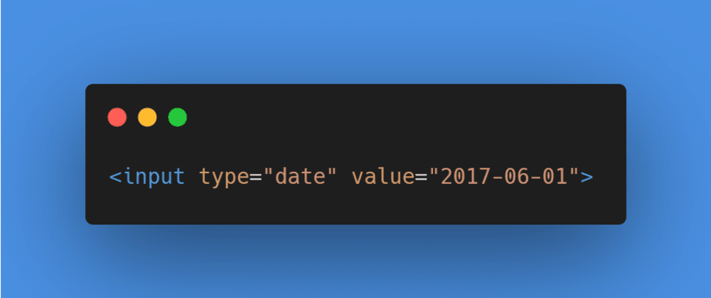 Cover image for How to collect date information using HTML Input!