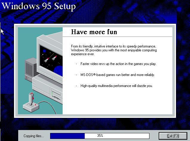 Win95 installer