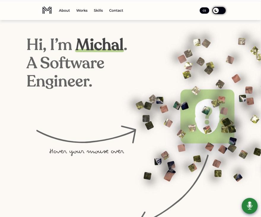 Screenshot of my site
