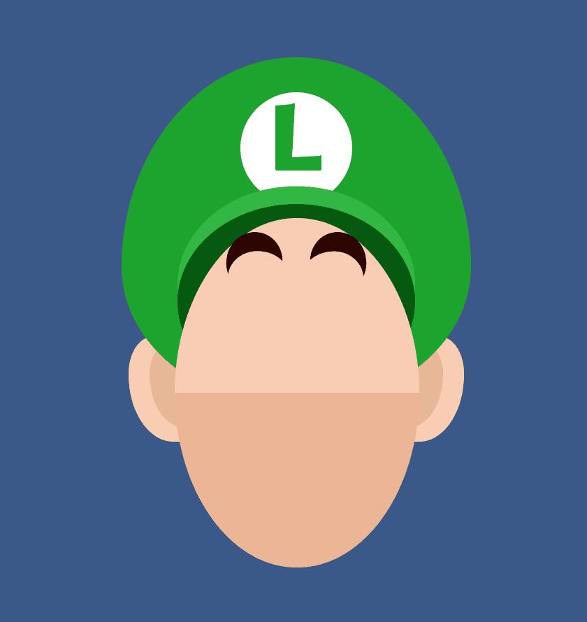 Luigi's Eyebrows CSS