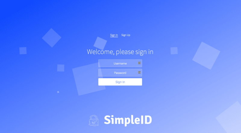 Hello SimpleID Example App