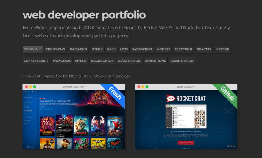 Rafael Caferati's developer portfolio