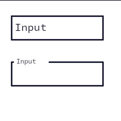 Input with label as placeholder