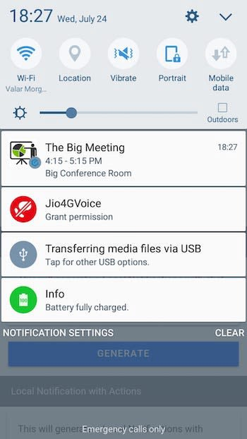 Local Notification with Multi-line message — Ionic 5 Capacitor Android app