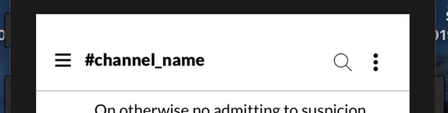 Stream Chat Slack Clone - Channel Name